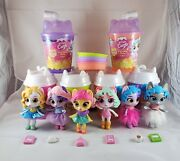 Kitten Catfe Purrista Girls Lot Of 6 Series 2 And Series 3 With Accessories