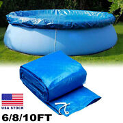 Us Round Above Ground Swimming Pool Cover For Winter Safety Pe Blue 6ft 8ft 10ft