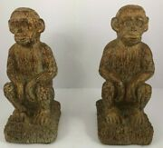 Monkey Bookends Seated The Keeper Of Memories By Melannco Collectible