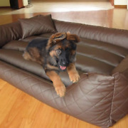 Genuine Handmade Pet Leather Bed Cover For Cats And Dogs/ Floor Cushion Cover 3