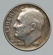 1961 Usa Roosevelt Dime Magicians Double Headed Vintage Trick Coin Medal I91846