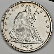 1866 Seated Liberty Half. Natural Uncleaned. Bu. 160220
