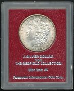1886-s Redfield Holder Morgan Silver Dollar White W/amber Toning At The Rim