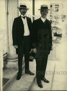 1922 Press Photo German Amb To Us Dr Otto Wiedfeldt And W Cuno At White House