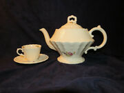 Spode Jewell Copeland Heath And Rose Tea Pot Cup And Saucer Patent June 15th 1926