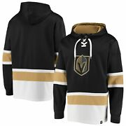 Vegas Golden Knights Fanatics Branded Iconic Power Play Lace-up Pullover Hoodie