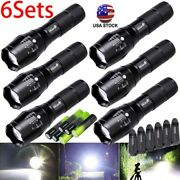 3/6x Tactical Flashlight Ultrafire 5 Modes High Powered Zoom Aluminum And Battery