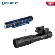Olight Odin Turbo Magnetic Usb Charging Lep Tactical Flashlight + I5t Eos Torch