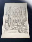 1858 Germany Halberstadt Cathedral Norman Shaw Antique Architecture 29x42cm