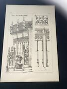 1858 Germany Lubeck Norman Shaw Antique Architecture 29x42cm