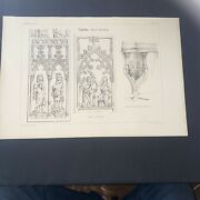 1858 Germany Magdeburg Norman Shaw Antique Architecture 29x42cm