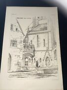 1858 Germany Ratisbon Cathedral Norman Shaw Antique Architecture 29x42cm