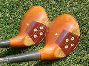 Left Hand Lh Persimmon Rare Set Dynacraft Tour Model Golf Clubs 4 And 5 Woods