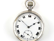 English Sterling Silver Working Pocket Watch George Stockwell London 1919