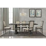 Best Master Furniture Lisa Smoked Grey Dining Table Grey Modern And Contemporary