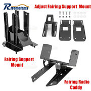 For 98-13 Harley Road Glide Adjust Fairing Support Mount Brackets And Radio Caddy
