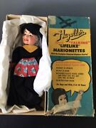 Vtg Hazelle's Marionette Airplane Control 304 Fairy Tale Witch W Box
