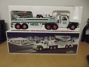 Hess 2002 Collectible Toy Truck And Airplane Collectible White And Green Nib