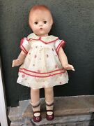 """Gorgeous 22"""" Vintage Effanbee Doll """"patsy Lou"""" All Original 1930's Composition"""