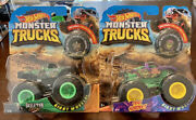 Hot Wheels Monster Trucks 2test Subject And Skeleton Crew W/ Collectible Wheel