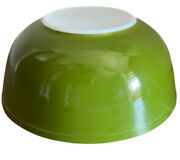 Vintage Pyrex Green 404 Nesting Mixing Bowl 4 Qt Usa Verde Avocado Oven Ware
