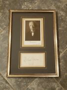 German Composer Richard Strauss Signed Card Photo Framed Autographed Cr