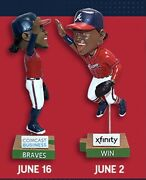 2021 Braves Win Bobblehead Set- Ronald Acuna Jr And Ozzie Albies