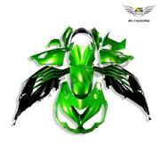 Fu Green Black Injection Fairing Fit For Kawasaki Zx14r Zzr1400 2012-2015 A002