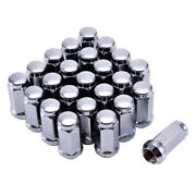 24pcs Chrome 14mm X 2 Solid Wheel Lug Nuts For Ford Expedition F-150 Lincoln New