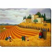 Village Harvest By Lowell Herrero Gallery-wrapped Canvas