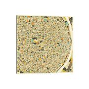 Icanvas Abstract City Map Of St. Louis By Jazzberry Blue