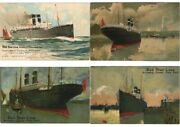 Red Star Line Advertising Shipping Poster Type Litho 19 Vintage Pc. L3690