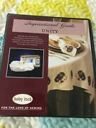 Baby Lock Inspirational Guide For Unity Embroidery/sewing Machine Instructions
