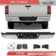 Rear Step Bumper Assembly Chrome Steel For 2004-2008 Dodge Ram 1500 2500 3500 Hd