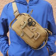 Tactical Molle Pouch Outdoor Multifunctional Chest Waist Bag First Aid Edc Bag