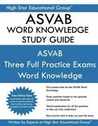 Asvab Word Knowledge Study Guide Paperback Brand New Free Shipping In The Us