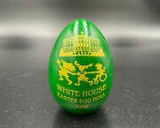 White House Easter Egg 1999 Signed Bill And Hillary Clinton Green Wooden