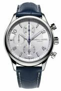 Frederique Constant Runabout Chronograph Steel Leather Mens Watch Fc-392rms5b6