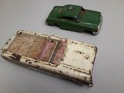 Vintage 1950and039s Tin Toy Cars For Restore Repair Or Salvage Parts