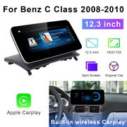 12.3 Android Car Gps Player Video Wifi Auto Carplay For Benz C Class 2008-2010