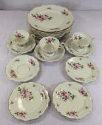 Qty 17 Rosenthal Selb Germany Pompadour Courtship Dinner Plates Saucer Tea Cups
