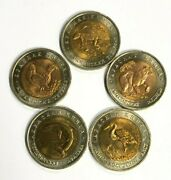Set Of Five 5 Uncirculated 1993 Russia 50 Roubles Wildlife Series