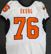 Russell Okung Game Used Nike 2010 Cotton Bowl Oklahoma State Jersey 131780