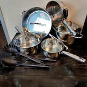 Pots Pans Cooking Set Gibson Abruzzo 12 Piece Stainless Steel Cuisine Select