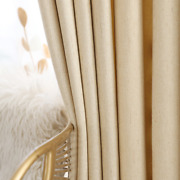 High Blackout Pure Solid Color Modern Curtains For Living Room Bedroom Imitation