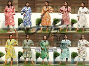 20 Pc Wholesale Mix Womenand039s Cotton Robe Summer Wear Wrap Plus Size Indian Gown