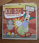 The Simpsons Krusty The Clown Vintage Inflatable Punching Doll