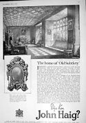 Old 1925 Advertisement John Haig Scotch Whisky Beauvais Tapestry Bouc 20th