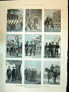 Antique Old Print 1894 Stages Development Japanese Army War Siers Uniforms 19th