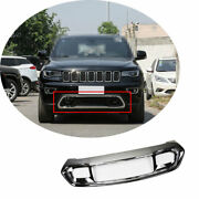 Chrome Front Bumper Diffuser Frame Trim For Jeep Grand Cherokee 2017 2018-2021